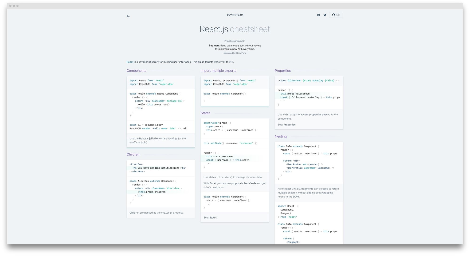 react-cheatsheet